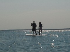 First Time Paddle Boarders