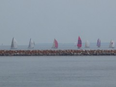 Sailboats in the 2012 Port Huron to Mackinac Race