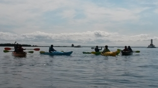 Kayaking around Mackinac Island Michigan is a fabulous family and group activity!