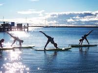 Guided Yoga on Stand Up Paddleboards