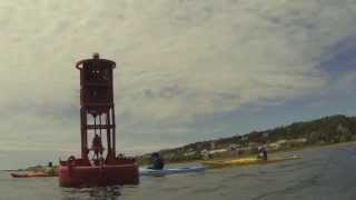 Kayaking around the Red Buoy - Mackinac Island Michigan
