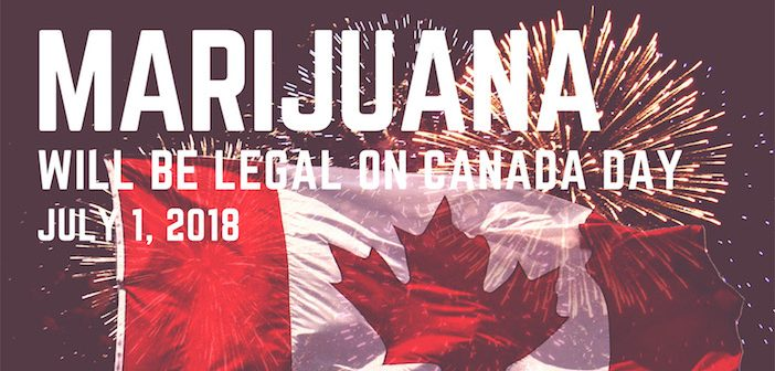 Legal Pot Will Be Available By Canada Day 2018