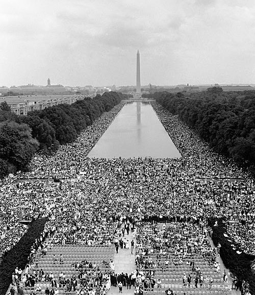 View from the Lincoln Memorial during the March on Washington
