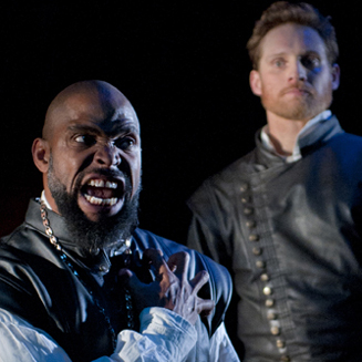 Aldo Billingslea (Othello) and Craig Marker (Iago)