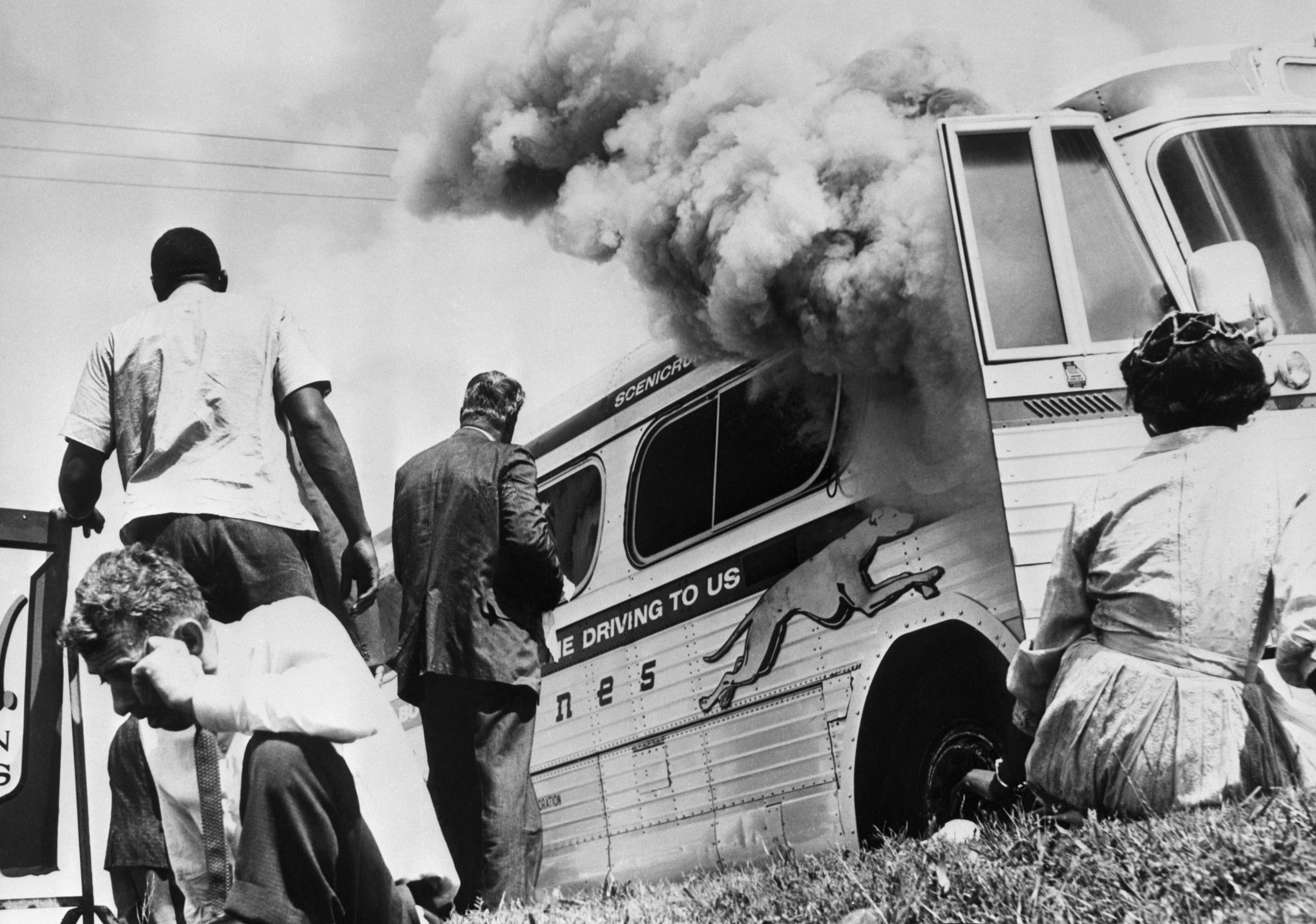 The Greyhound bus that was bombed by the KKK
