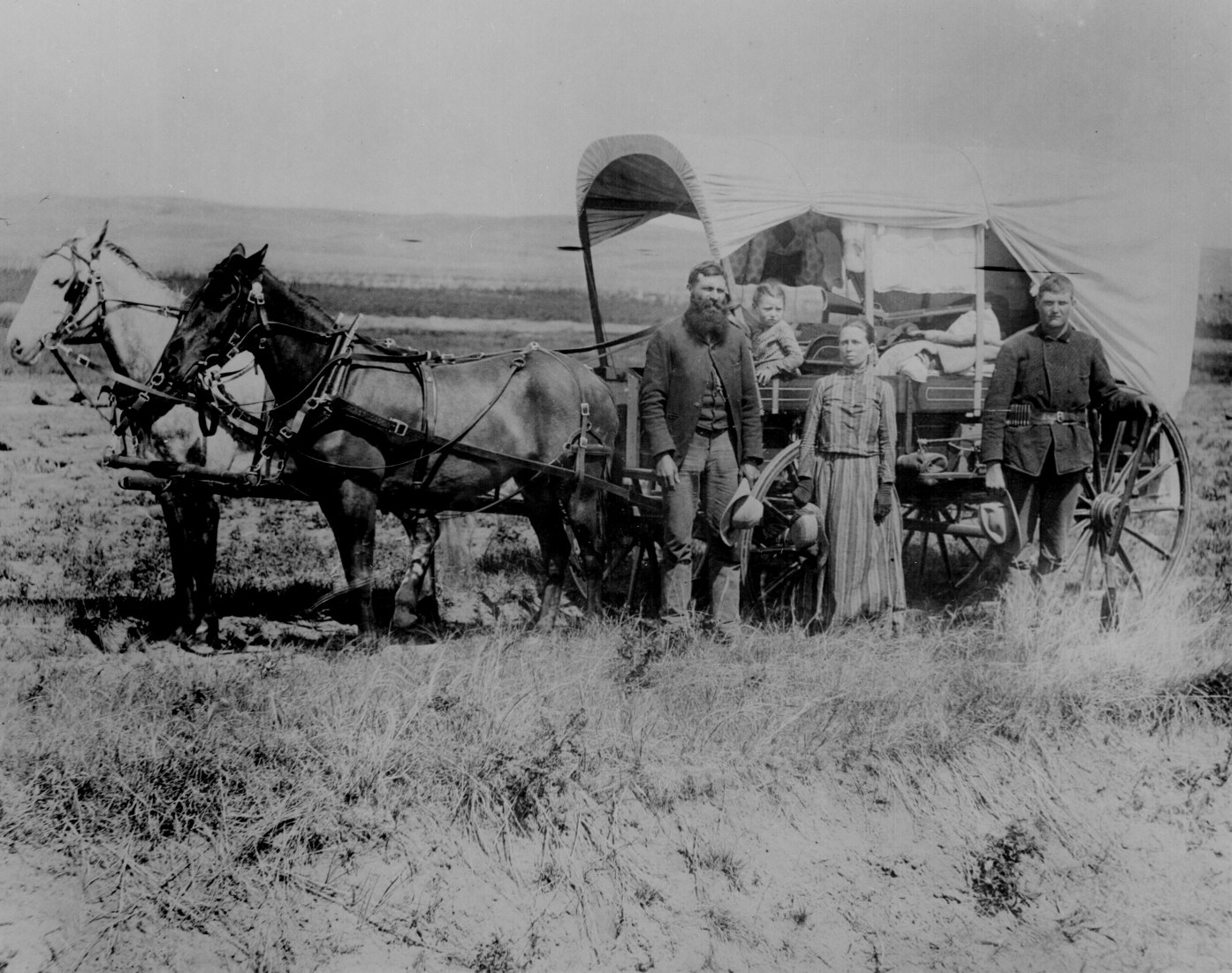 A pioneer family in Nebraska, c. 1886