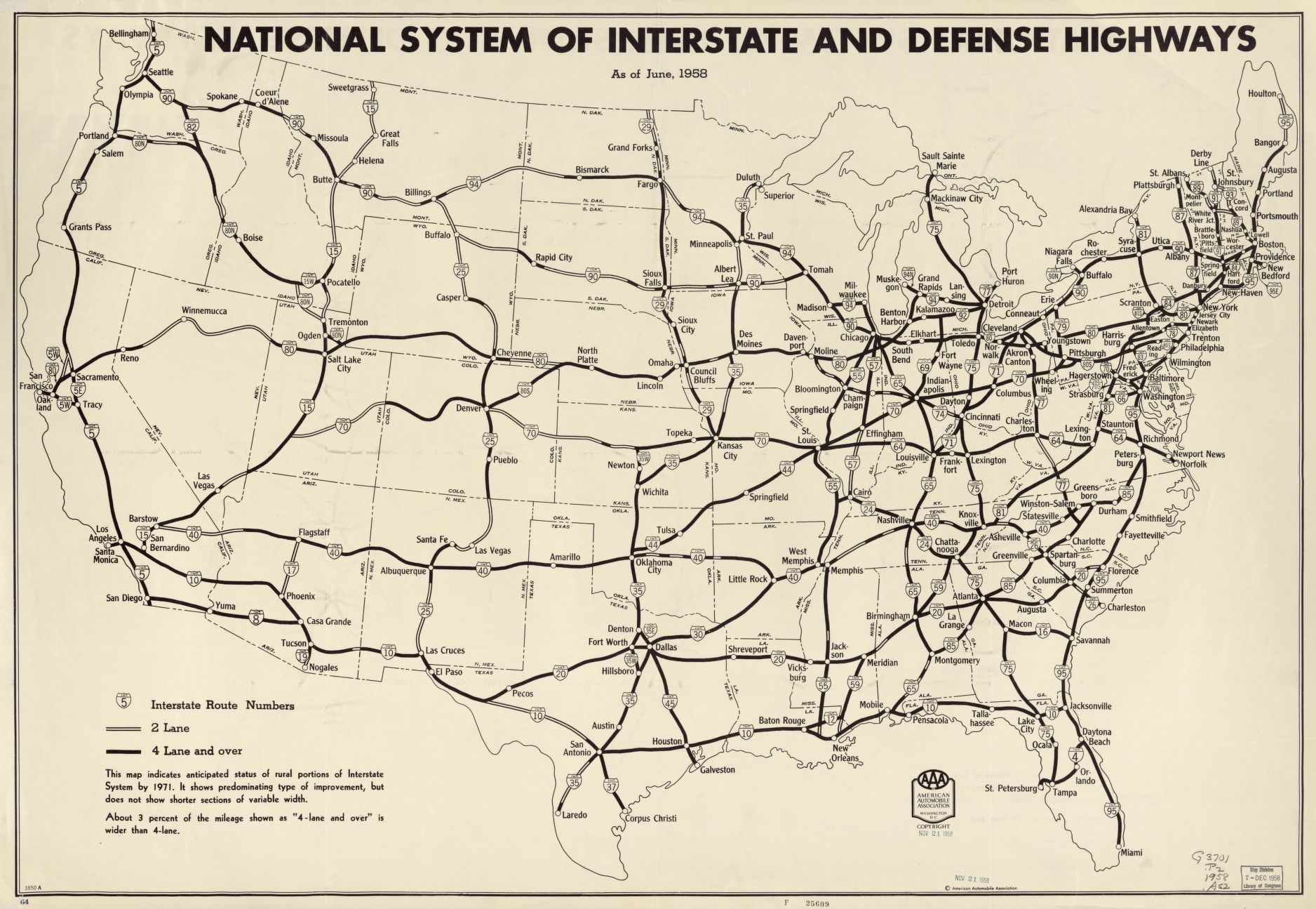 Us Map States Interstate Highways