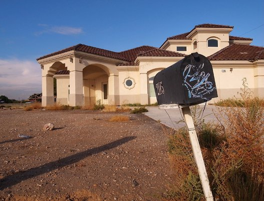 An empty house in Las Vegas