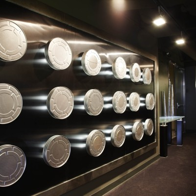 Donor Wall at the Actors Center - Los Angeles. Photo by Maarten de Boer.