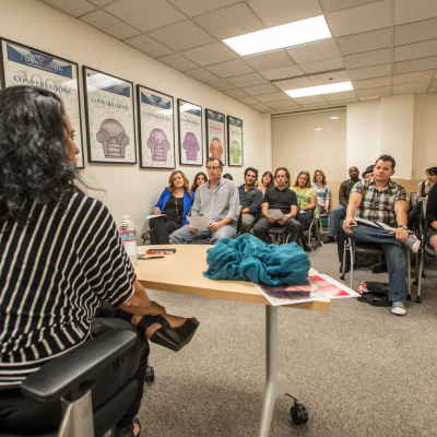 Casting Access workshop with casting director  Jami Rudofsky in Los Angeles, California. Photo by Neil Jacobs.