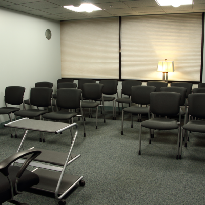 The Actors Center classroom, which seats 20 can be configured for seminars. Photo by Casey E. Lewis.