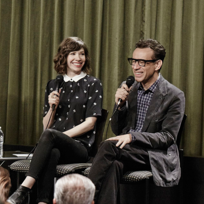 Carrie Brownstein & Fred Armisen (PORTLANDIA) at SAG Foundation Conversations. Photo by Getty Images