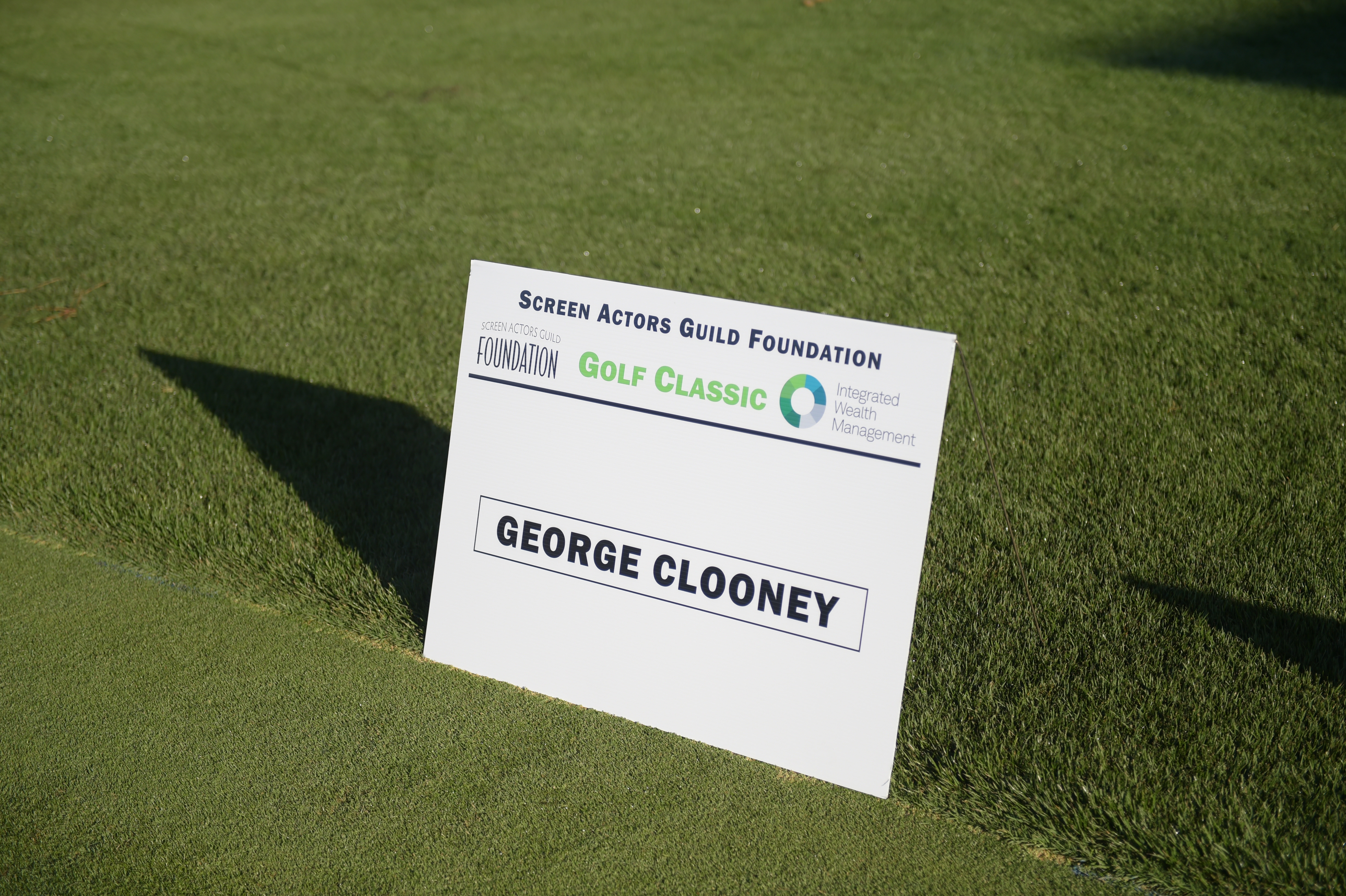 George Clooney sponsors The Screen Actors Guild Foundation's 6th Annual Los Angeles Golf Classic. (Photo by Jason Kempin/Getty Images for The Screen Actors Guild Foundation)