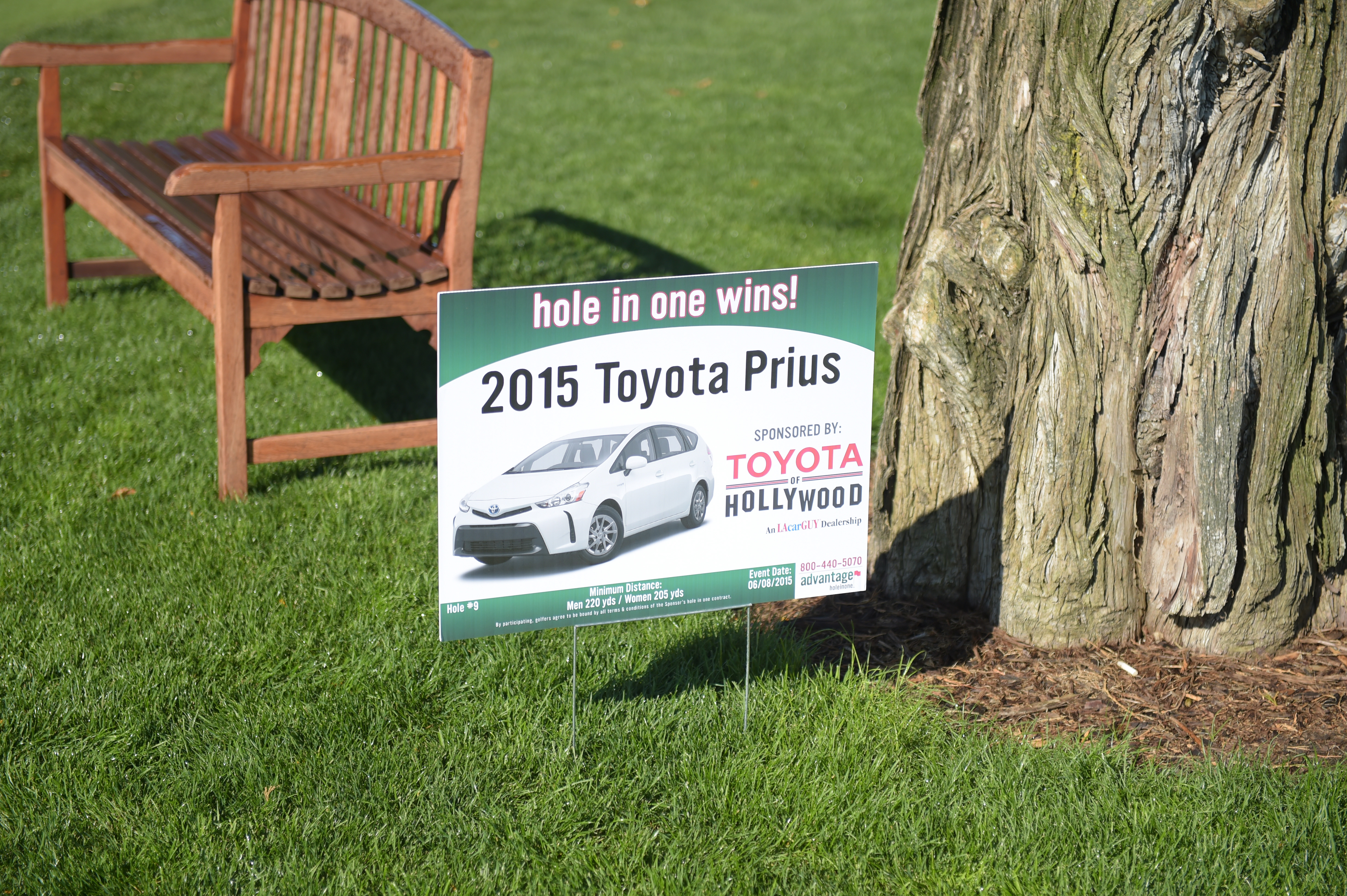 Toyota of Hollywood sponsors a hole-in-one at The Screen Actors Guild Foundation's 6th Annual Los Angeles Golf Classic on June 8, 2015 in Burbank, California. (Photo by Jason Kempin/Getty Images for The Screen Actors Guild Foundation)