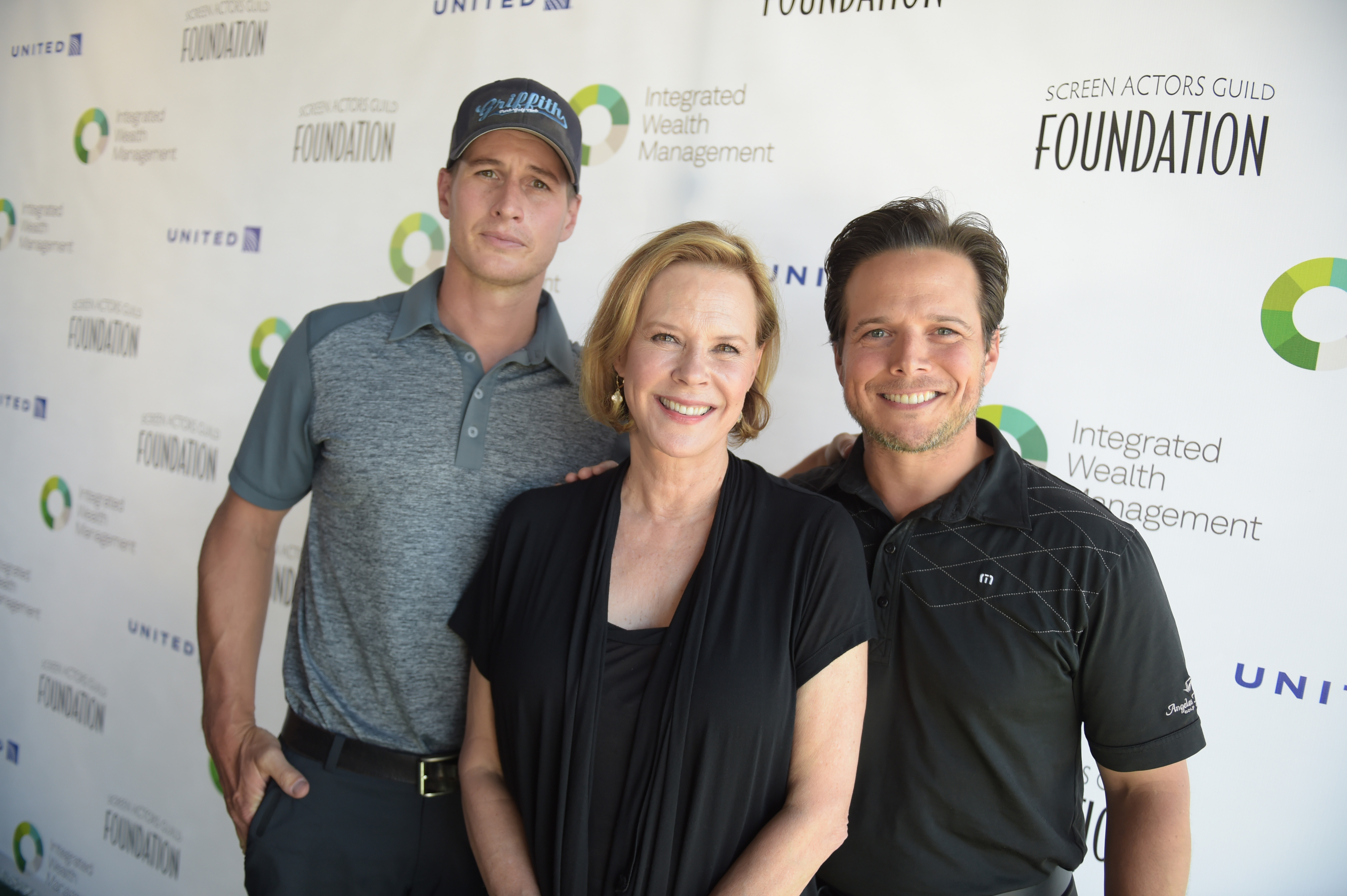 Hosts Brendan Fehr and Scott Wolf with SAG Foundation President JoBeth Williams at The Screen Actors Guild Foundation's 6th Annual Los Angeles Golf Classic on June 8, 2015 in Burbank, California. (Photo by Jason Kempin/Getty Images for The Screen Actors Guild Foundation)