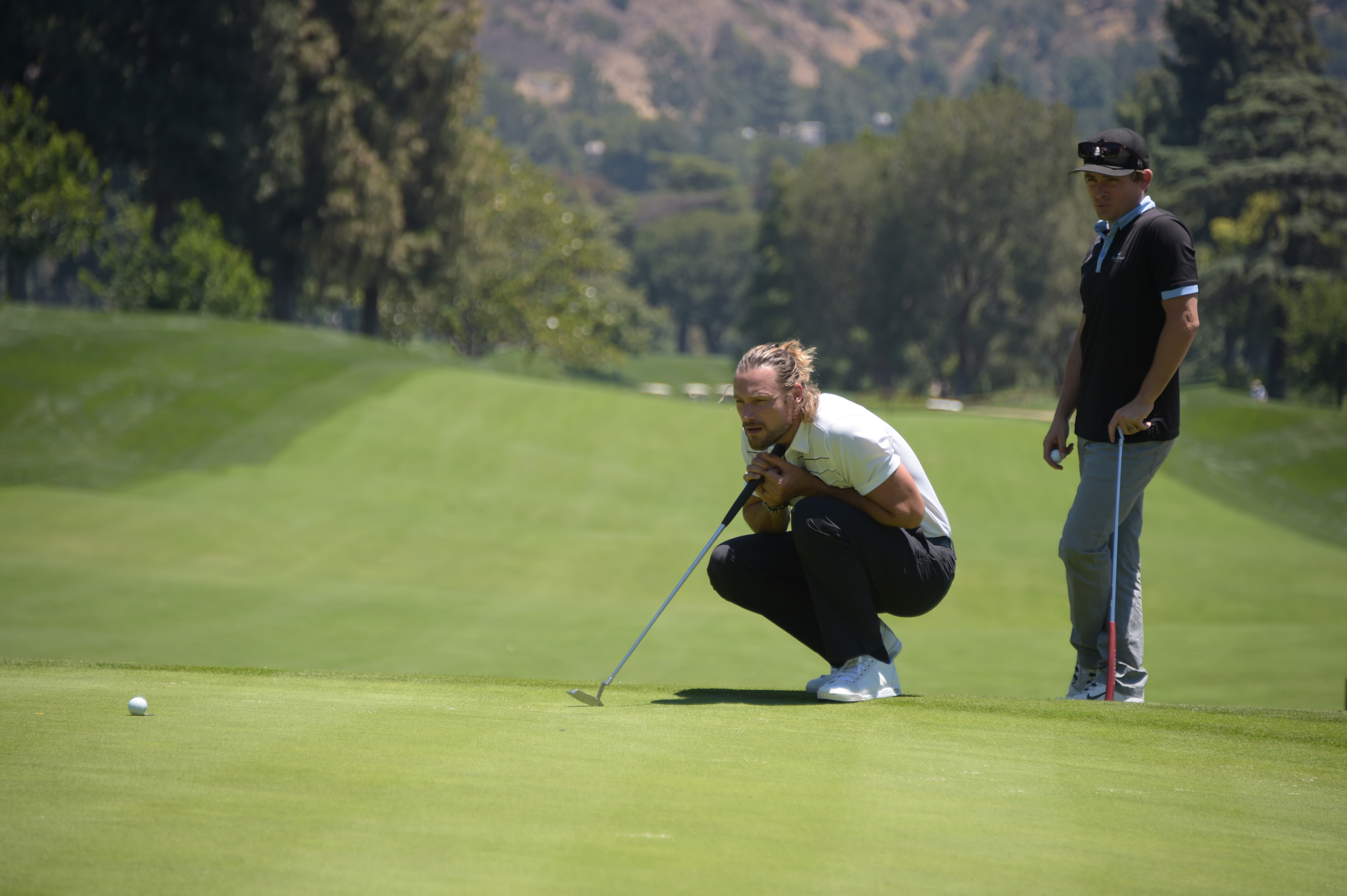Gabriel Aubry plays at the Screen Actors Guild Foundation's 6th Annual Los Angeles Golf Classic on June 8, 2015 in Burbank, California. (Photo by Jason Kempin/Getty Images for The Screen Actors Guild Foundation)