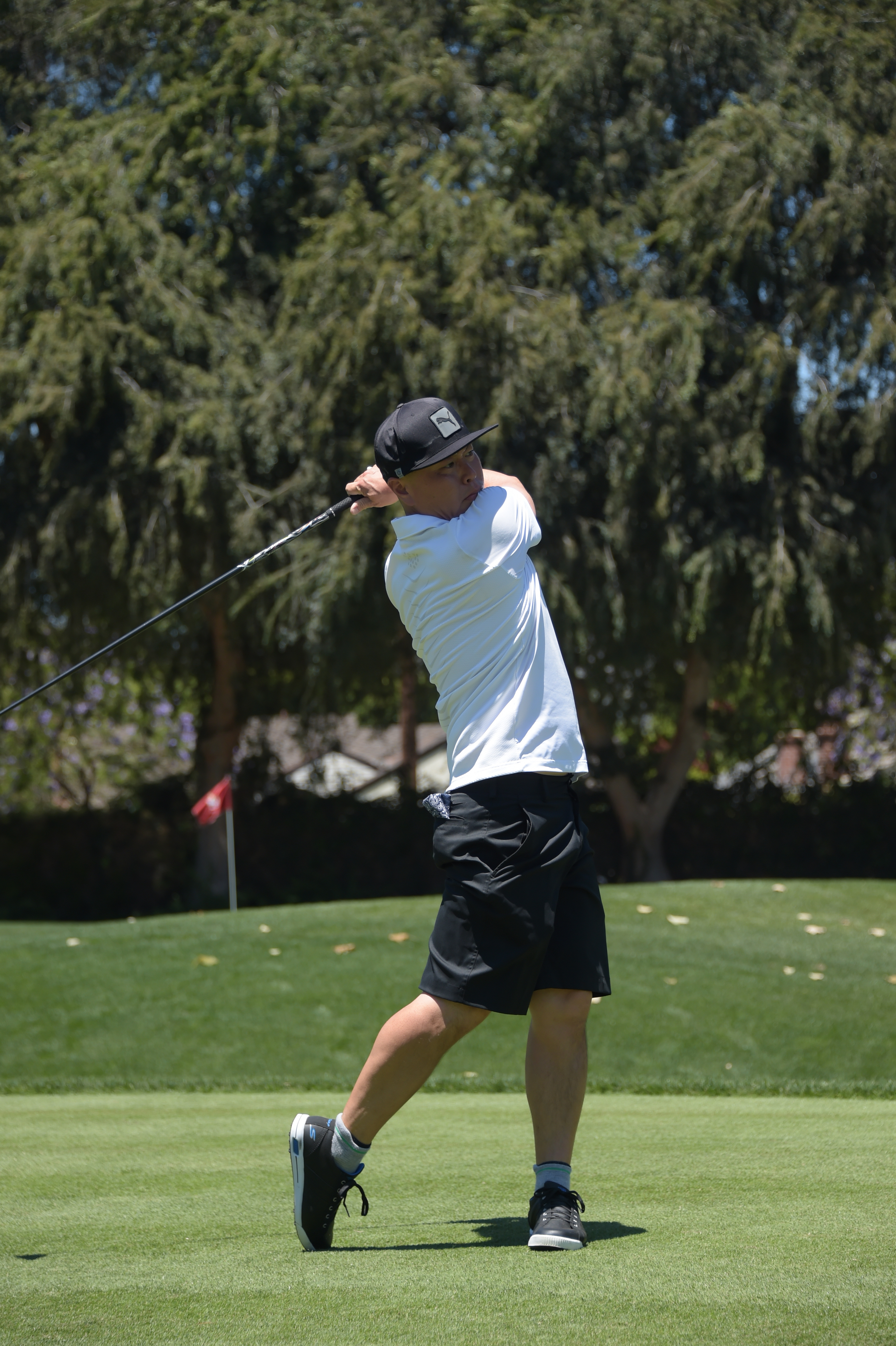 Actor CS Lee plays at the Screen Actors Guild Foundation's 6th Annual Los Angeles Golf Classic on June 8, 2015 in Burbank, California. (Photo by Jason Kempin/Getty Images for The Screen Actors Guild Foundation)