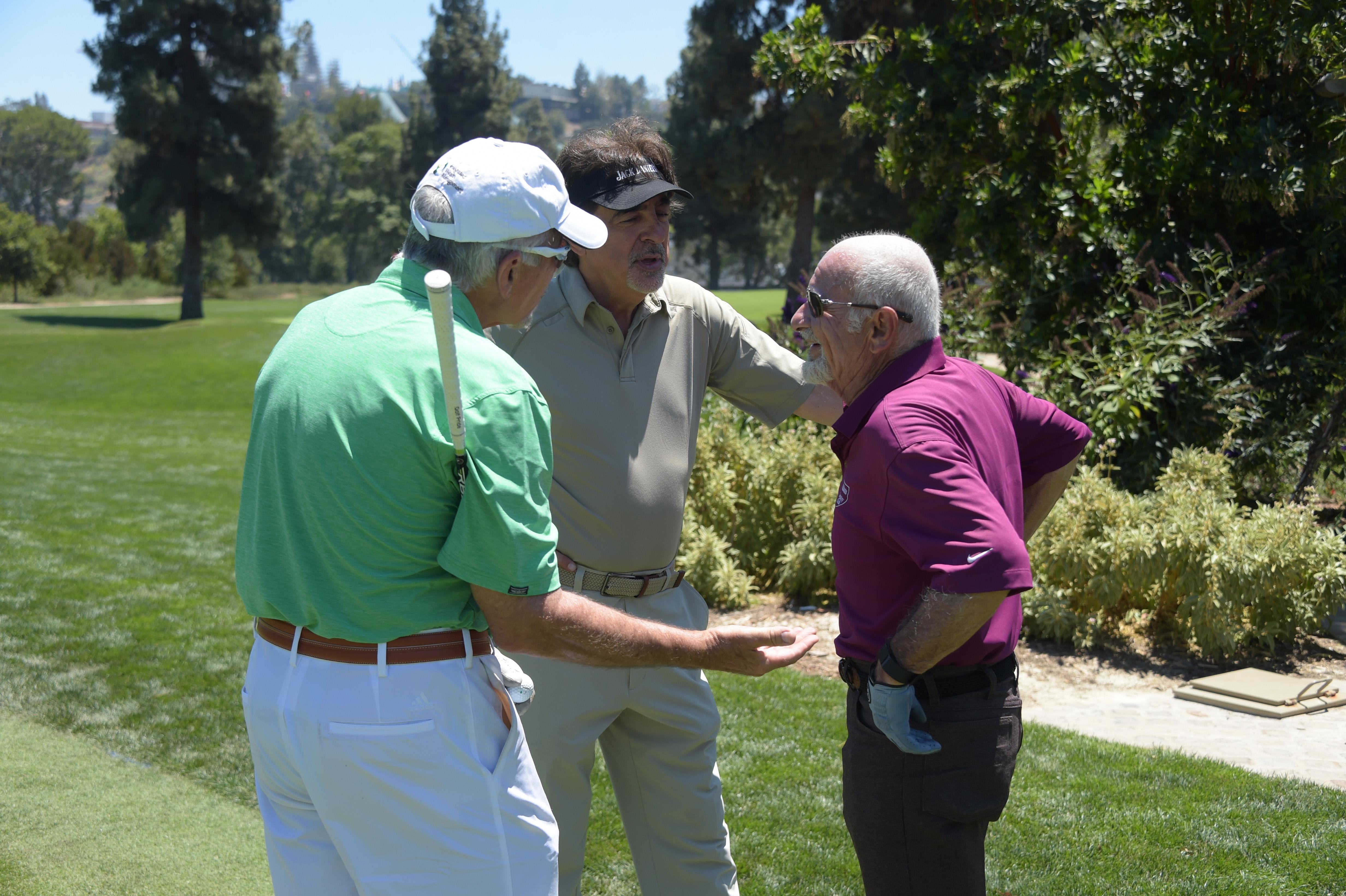 (L-R) Actors David Leisure, Joe Mantegna and Joe Pesci attend The Screen Actors Guild Foundation's 6th Annual Los Angeles Golf Classic on June 8, 2015 in Burbank, California.  (Photo by Jason Kempin/Getty Images for The Screen Actors Guild Foundation)