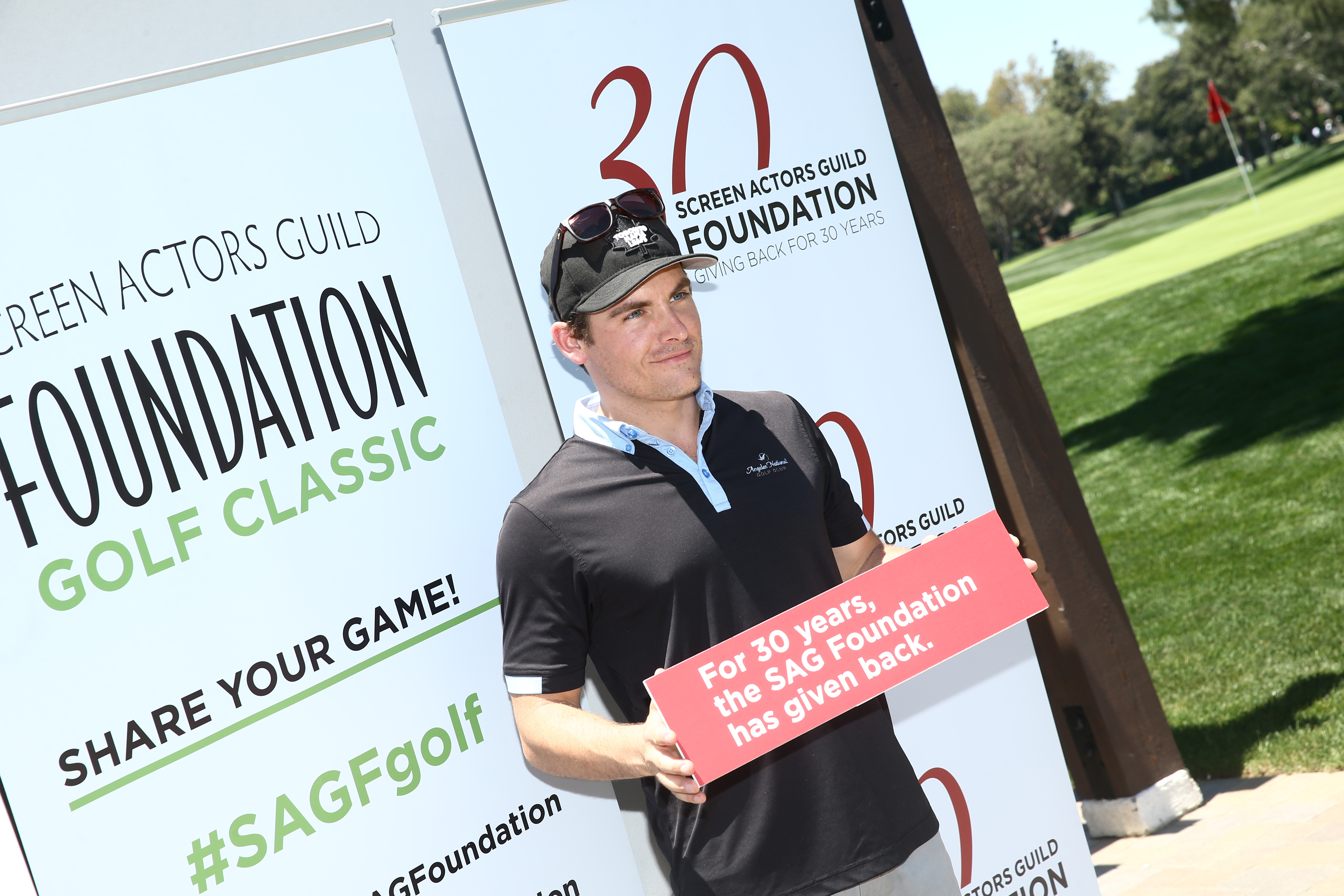 Actor Kevin Zegers plays at the Screen Actors Guild Foundation's 6th Annual Los Angeles Golf Classic on June 8, 2015 in Burbank, California. (Photo by Mark Davis/Getty Images for The Screen Actors Guild Foundation)