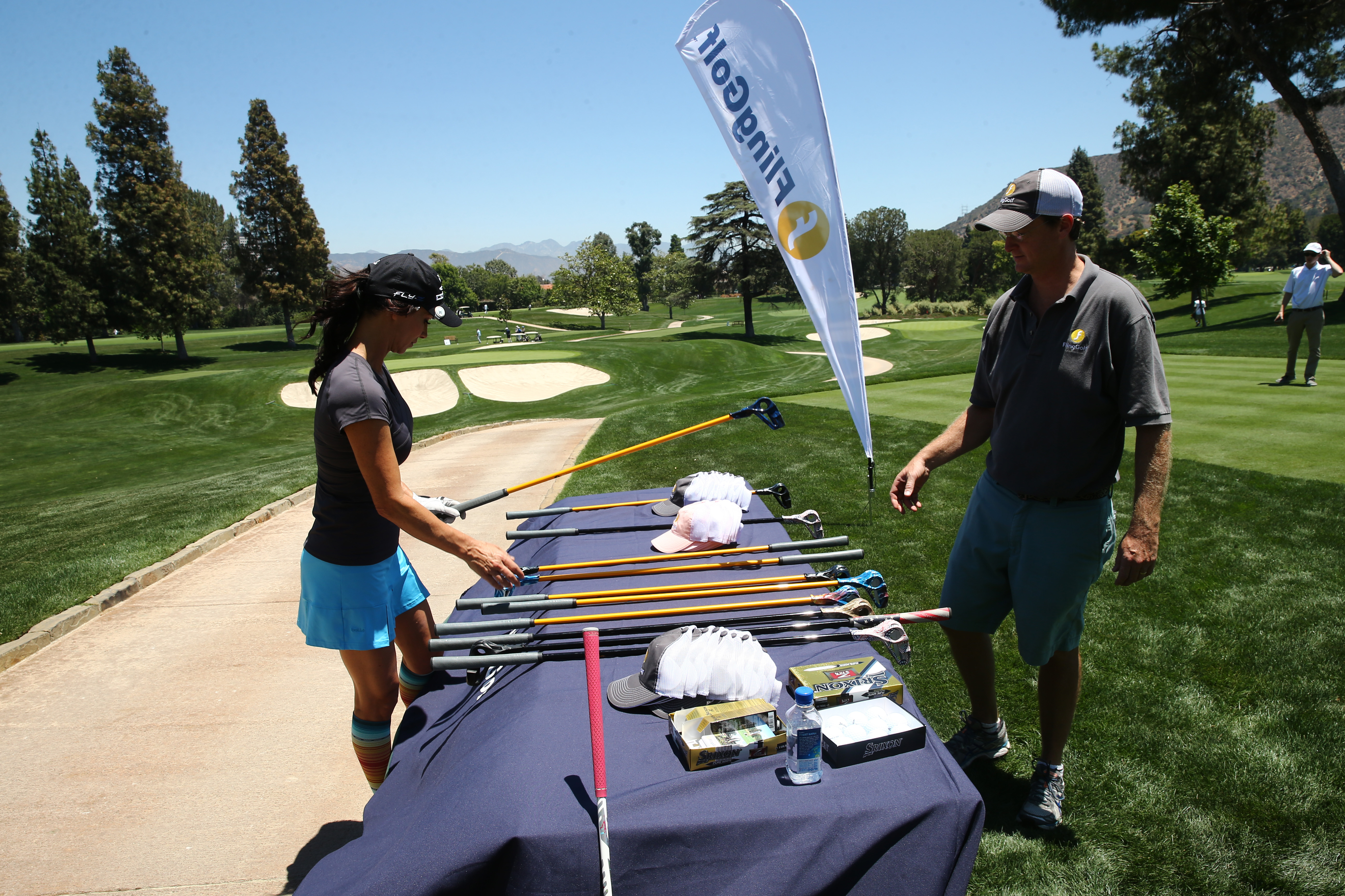 Debbe Dunning checks out 'Fling Golf' at The Screen Actors Guild Foundation's 6th Annual Los Angeles Golf Classic on June 8, 2015 in Burbank, California. (Photo by Mark Davis/Getty Images for The Screen Actors Guild Foundation)
