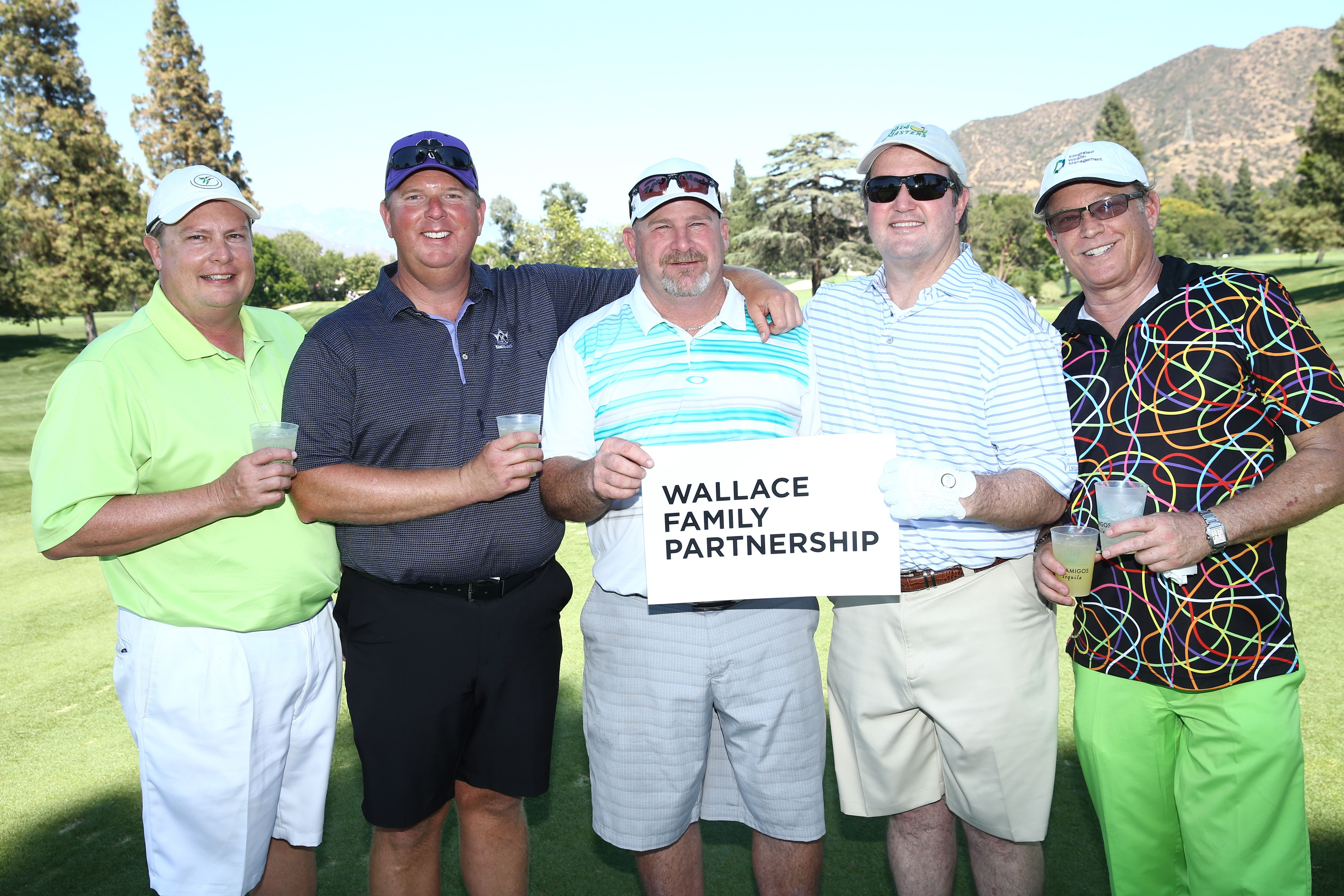 Mike Wallace, Kyle Lewis, Kelly Grunewald, Mark Dennis, and Chris Rich of Team Wallace Family Partnership play at the Screen Actors Guild Foundation's 6th Annual Los Angeles Golf Classic on June 8, 2015 in Burbank, California. (Photo by Mark Davis/Getty Images for The Screen Actors Guild Foundation)