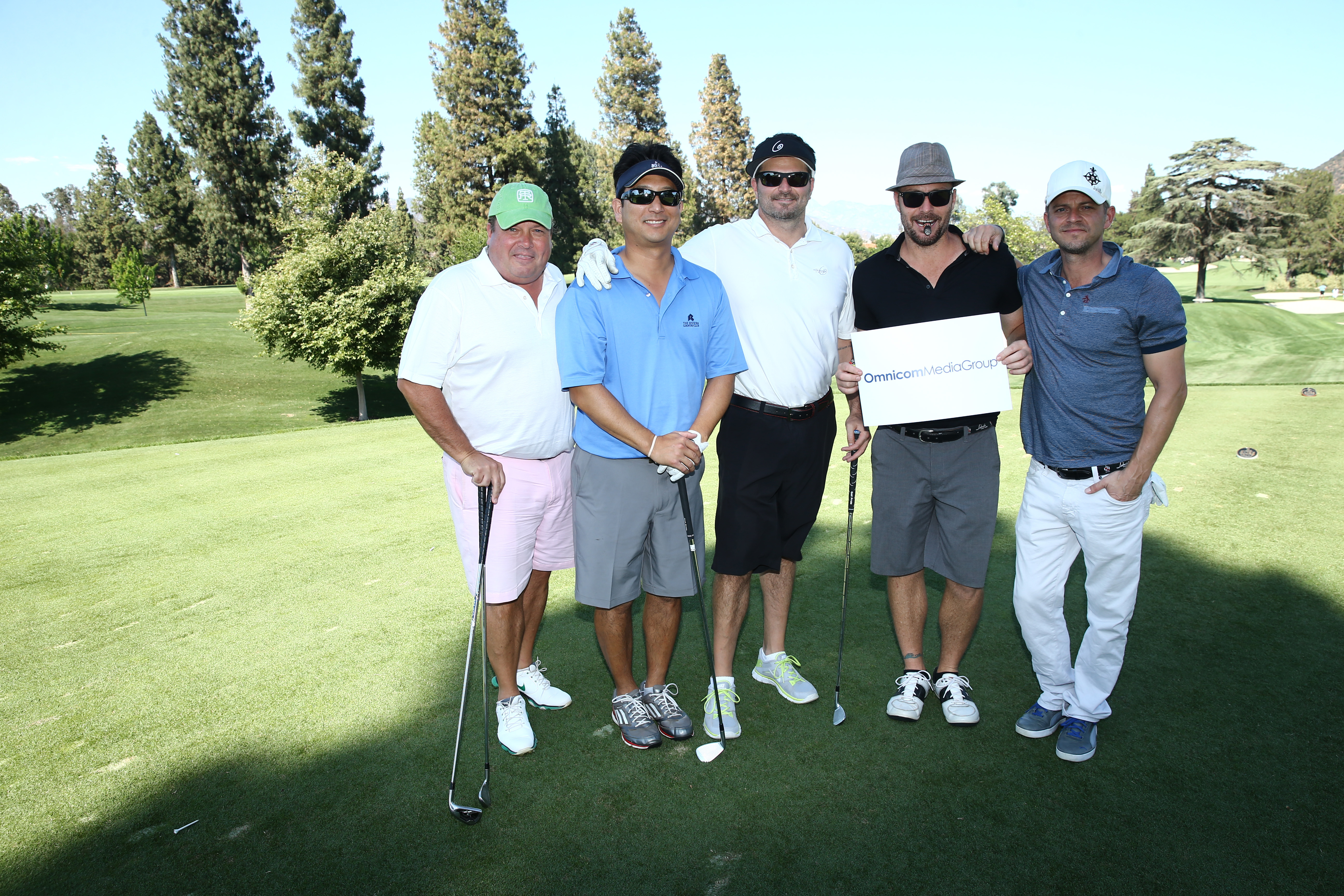 Kris Coontz, Steve Bark, Keith Bolognese, David Calnon, and Carmine Giovinazzo of Team Omnicom Media Group play at the Screen Actors Guild Foundation's 6th Annual Los Angeles Golf Classic on June 8, 2015 in Burbank, California. (Photo by Mark Davis/Getty Images for The Screen Actors Guild Foundation)