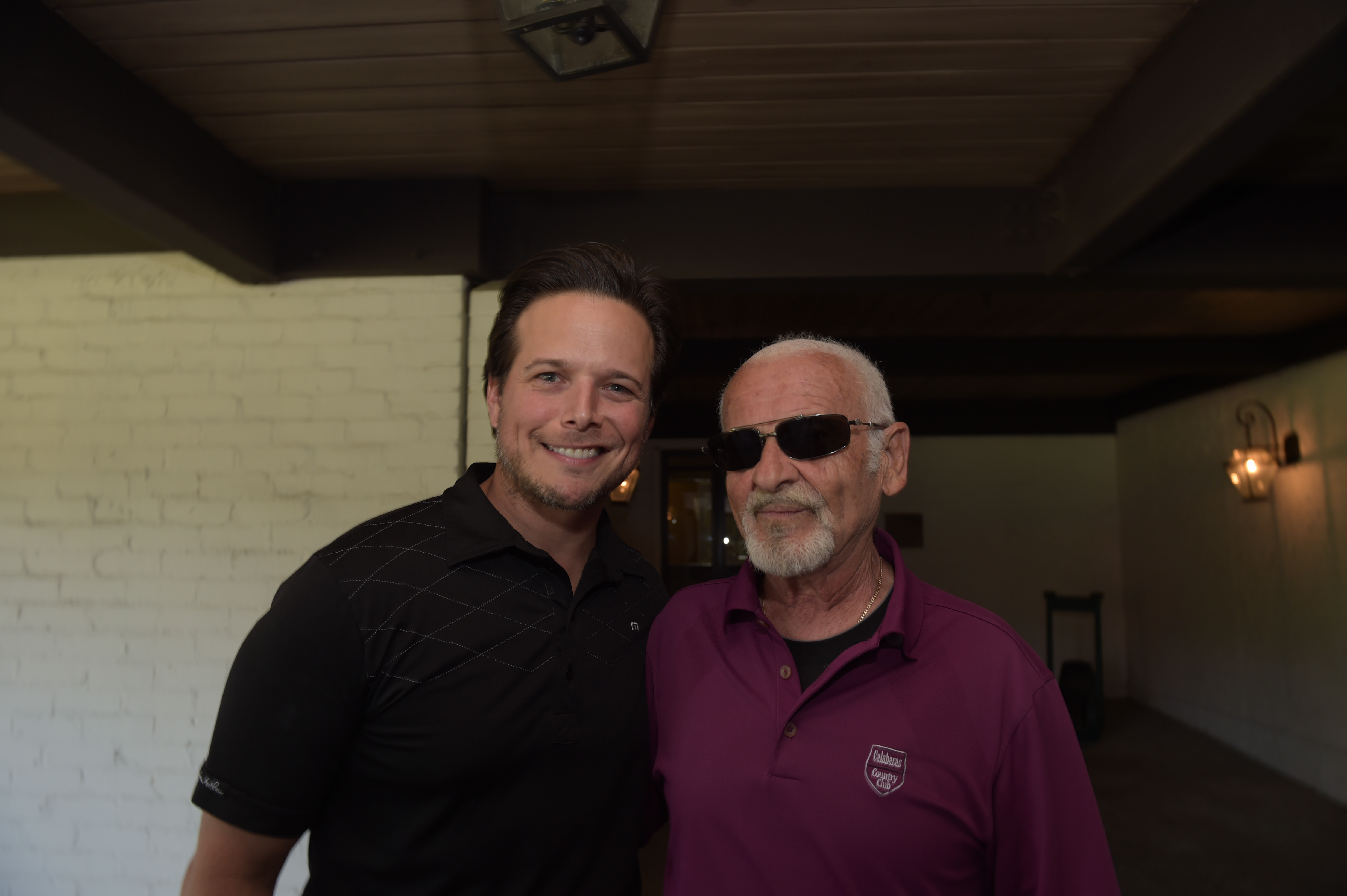 Host Scott Wolf with actor Joe Pesci at the Screen Actors Guild Foundation's 6th Annual Los Angeles Golf Classic on June 8, 2015 in Burbank, California. (Photo by Jason Kempin/Getty Images for The Screen Actors Guild Foundation)