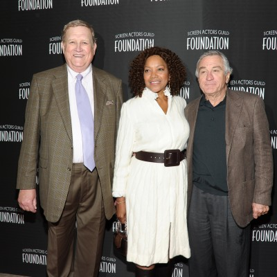 Ken Howard, Grace Hightower and Robert De Niro attends the Opening Of SAG Foundation Actors Center - New York on April 30, 2014.  Photo by Rommel Demano/Getty Images for SAG Foundation.