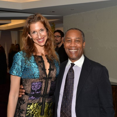 ORANGE IS THE NEW BLACK's Alysia Reiner and SCANDAL's Joe Morton attend the opening of the SAG Foundation's New York Actors Center, April 30, 2014. Photo by Andrew Walker/Getty Images