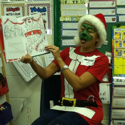 Orlando BookPAL Tammy Hammond shares The Grinch with Kindergartners