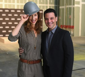 NEW YORK, NY - APRIL 28:  Actors Alysia Reiner and David Basche attend the SAG Foundation breaks ground on Actors Center Signature Space at 247 West 54th Street In New York on April 28, 2015 in New York City.  (Photo by Andrew Toth/Getty Images for SAG Foundation)