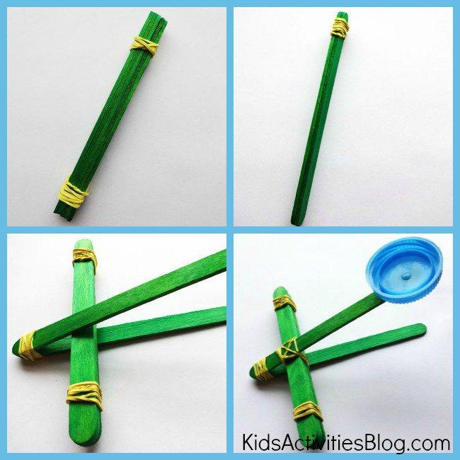 Как сделать из карандаша катапульту