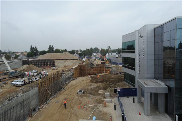 Un aspecto del avance de los trabajos para la nueva terminal de autobuses El Monte. (Foto Juan Campo/El Pasajero)