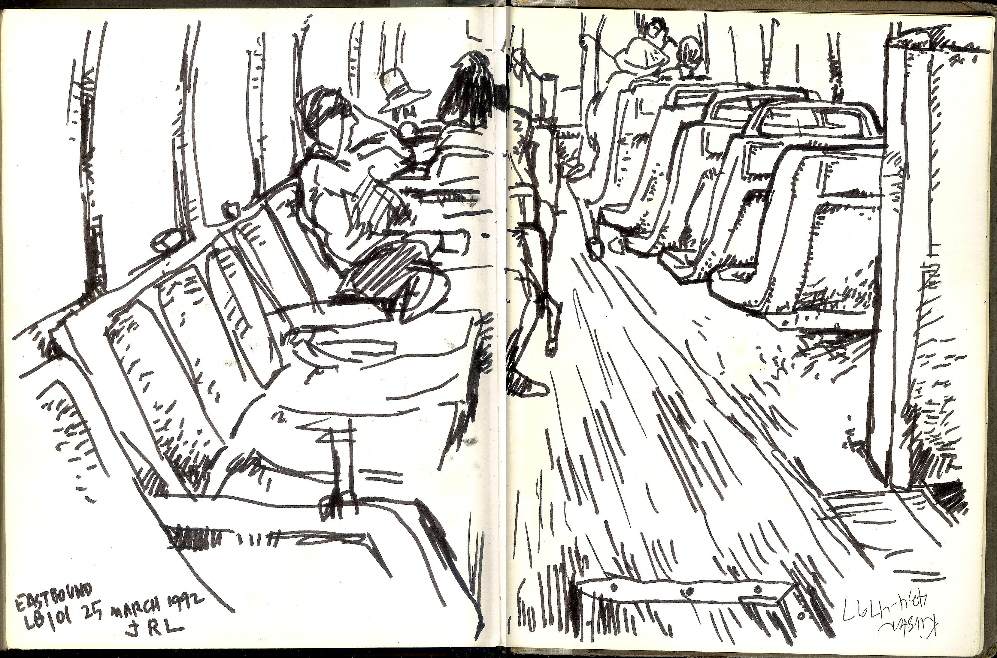 Línea 101 rumbo al este en Long Beach. 25 de marzo de 1992.