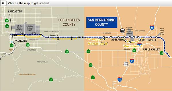 High Desert Corridor Interactive Map