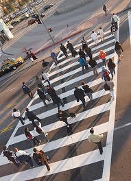 Lankershim y el bulevar Chandler entre las estaciones North Hollywood de las líneas Roja y Orange. Foto LADOT)