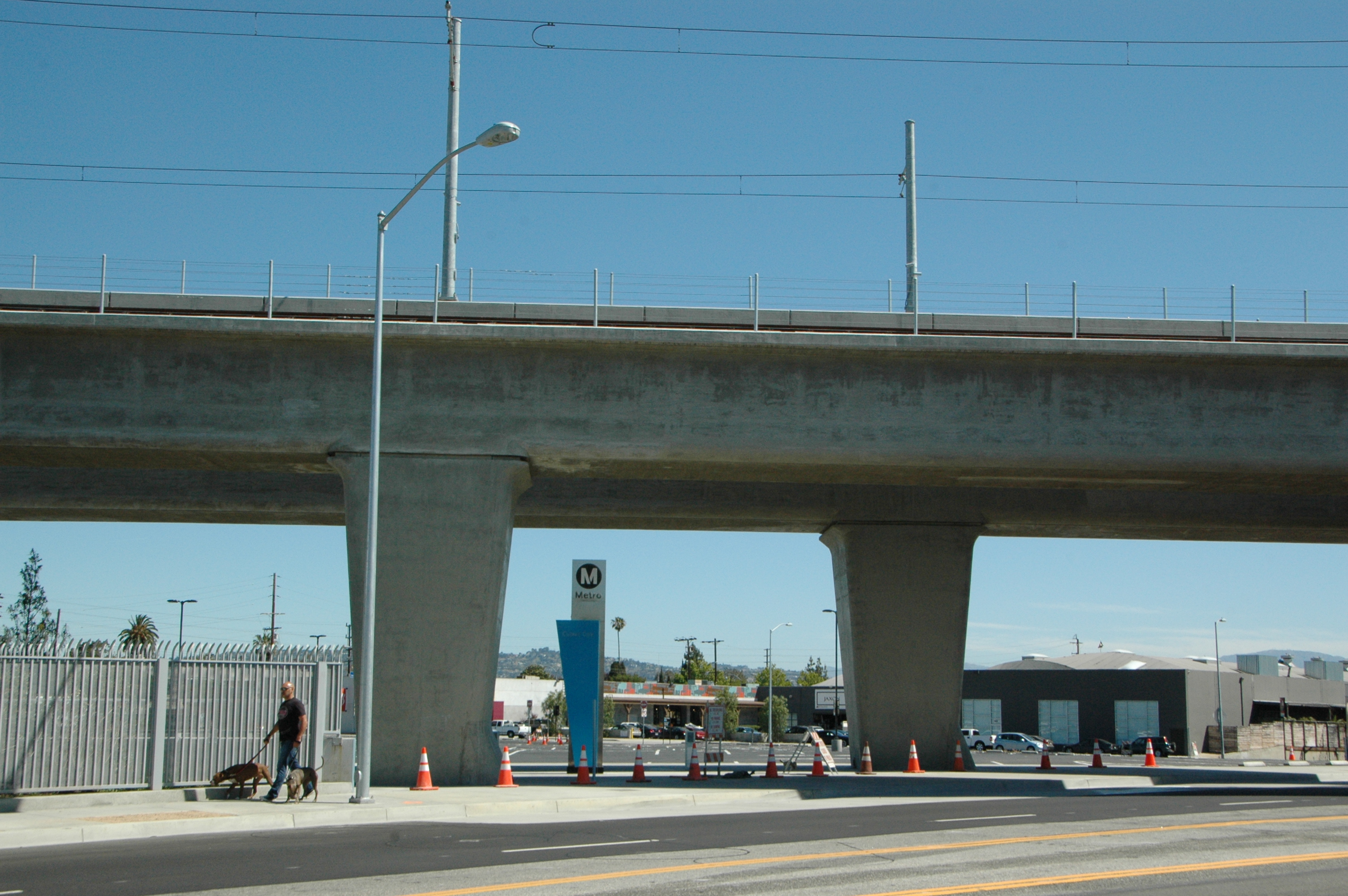 Area en donde se llevará a cabo simulacro de emergencia esta mañana cerca de la estación Culver City. (Foto Anna Chen/El Pasajero).