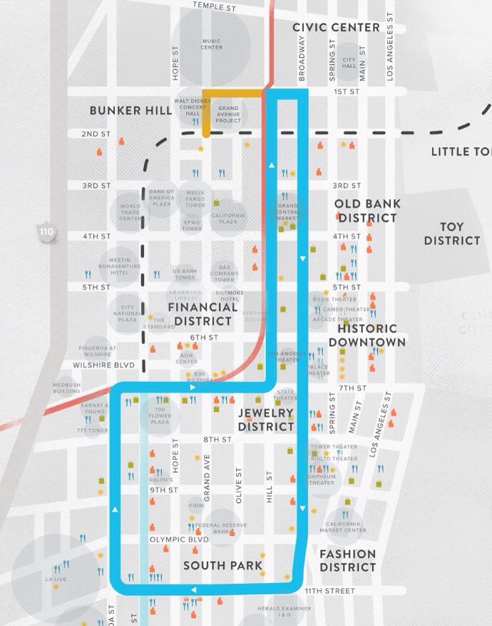 Mapa de la ruta del tramvía.