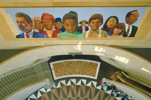 City of Dreams/River of History en Union Station, de Richard Wyatt con la colaboración de May Sun. Foto: Metro.