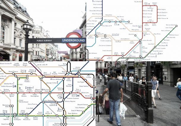 Metro y fútbol. Dos elementos indisolubles en la capital británica (Fotos: FA y elaboración propia).