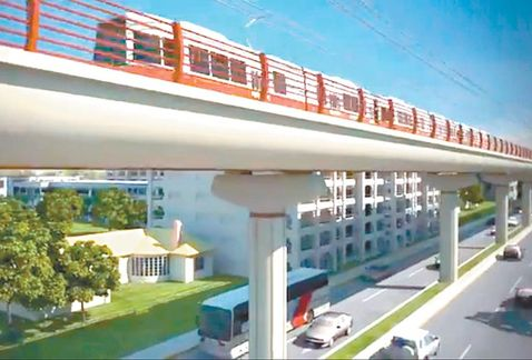 Un diseño de lo que será el Metro elevado en la ciudad de Monterrey, México. (Foto Milenio.com)