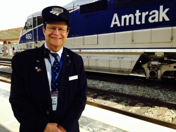 El conductor de Amtrak, Irv Hirsch. Foto: Kim Upton.