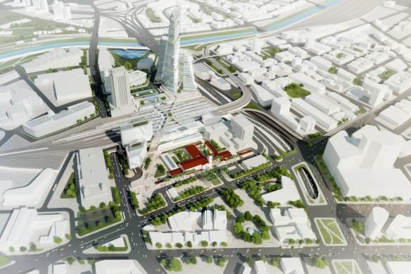 Vista general de las mejoras que se harían en Union Station, de acuerdo con el Plan Maestro.