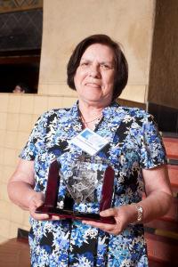 Kay Gonzales, ganadora del premio Ambassador. Foto: Josh Southwick/Metro.