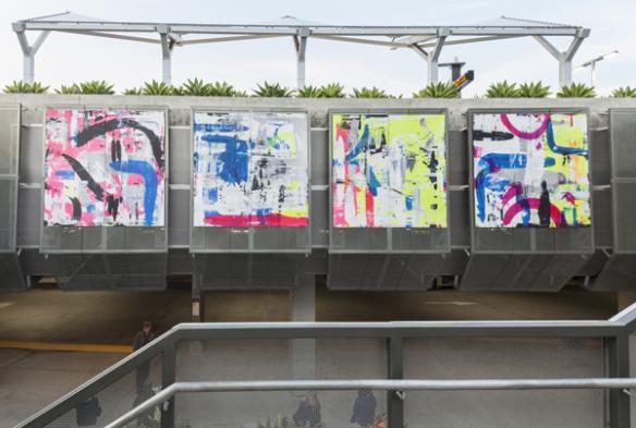 """Con """"Vamos Juntos/Juntas"""", Martin Durazo usa un colorido vibrante para transmitir la intersección cambiante de culturas y ambientes en el área de Los Ángeles."""