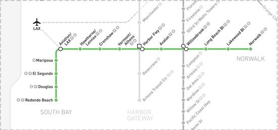 Green Line map