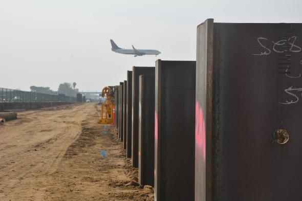 En este lugar se ubicará la futura Línea Crenshaw/LAX.