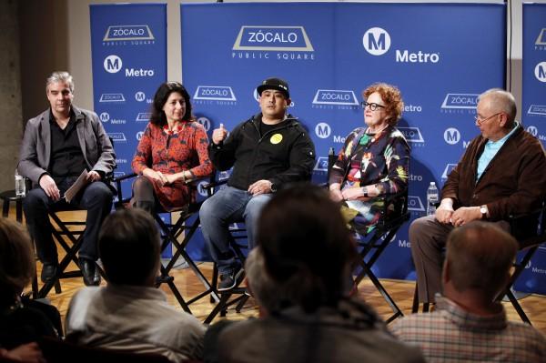 El panel durante la discusión sobre la cultura del auto.
