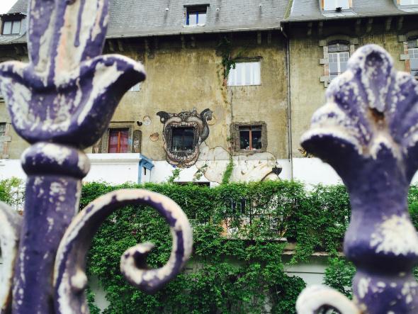 Detalle de una casa en París.