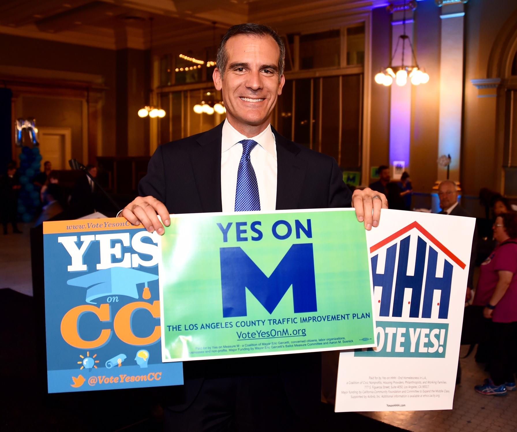 El alcalde Eric Garcetti. Fotos: Juan Ocampo.